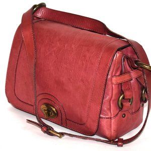 Marc Jacobs Berry Red Leather Bag Italian Satchel